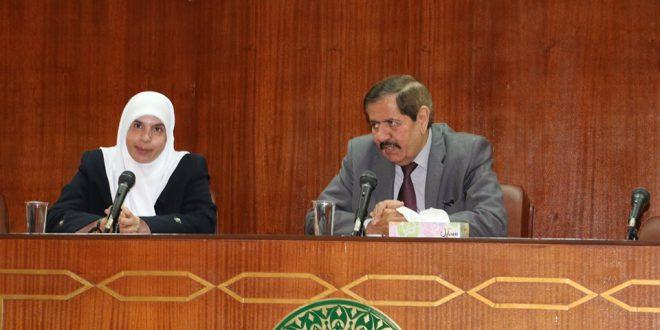 زيارة طلبة قسم اللغة العربية من الجامعة الهاشمية للمجمع