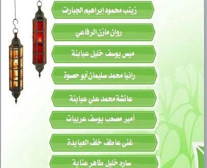 أسماء الفائزين في مسابقة المجمع الرمضانية