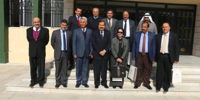 زيارة وفد الجمعية العلمية لكليات الآداب في الوطن العربي